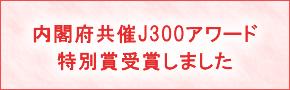 内閣府共済J300アワード特別受賞しました
